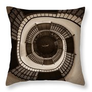 Circular Staircase In The Granitz Hunting Lodge Throw Pillow