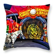 Circus Act Throw Pillow