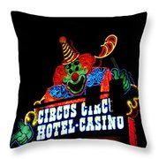 Circus Circus Sign Vegas Throw Pillow