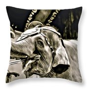 Circus Elephant Throw Pillow