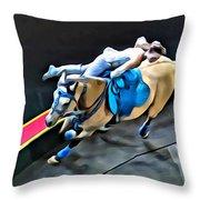 Circus Horse Trickster Throw Pillow