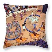 Circus Ladies Throw Pillow