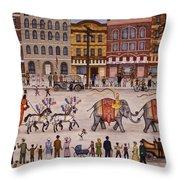 Circus Parade Throw Pillow