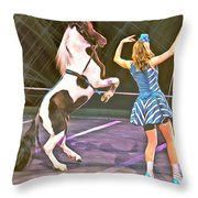 Circus Pony Throw Pillow