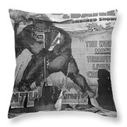 Circus Poster, 1938 Throw Pillow