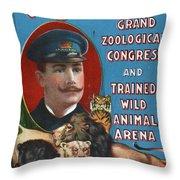 Circus Program, C1901 Throw Pillow