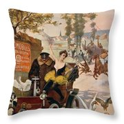 Circus Star Kidnapped Wilhio S Poster For De Dion Bouton Cars Throw Pillow