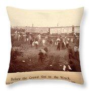 Circus Train Wreck, 1896 Throw Pillow