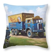 Circus Truck Throw Pillow by Mike  Jeffries