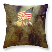 Circus Usa Flag Throw Pillow
