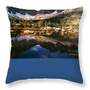 Cirque Of The Towers In Lonesome Lake 2 Throw Pillow