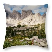 Cirque Of The Towers Throw Pillow