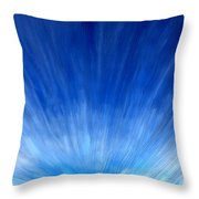Cirrus Clouds In Perspective Throw Pillow