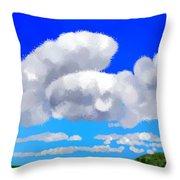 Cumulus Impressionism Throw Pillow