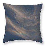 Cirrus Rainbow Cloud Throw Pillow