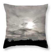 Cirrus Sunset Throw Pillow