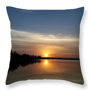 Cirrus Sunset Throw Pillow