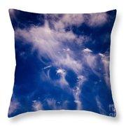 Cirrus Uncinus Clouds 11 Throw Pillow