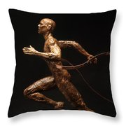 Olympic Runner Citius Altius Fortius  Throw Pillow