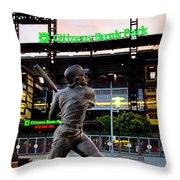 Citizens Bank Park - Mike Schmidt Statue Throw Pillow