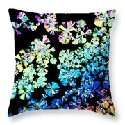 Citric Acid Microcrystal Colorful Abstract Art Throw Pillow