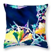 Citric Acid Microcrystals Color Abstract Art Throw Pillow
