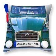 Citroen 2 Cv - France Throw Pillow