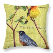 Citron Songbirds 2 Throw Pillow