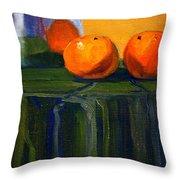 Citrus Chrome Throw Pillow