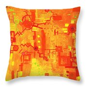 Citrus Circuitry Throw Pillow