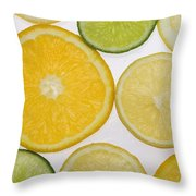Citrus Slices Throw Pillow by Kelly Redinger