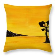 Citrus Sunset Throw Pillow