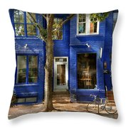 City - Alexandria Va -  Bike - The Urbs Throw Pillow