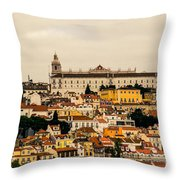 City And Cathedral Lisbon Portugal Throw Pillow