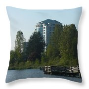 City And Country Meet Throw Pillow