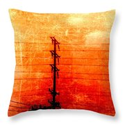 City And Its Veins Throw Pillow
