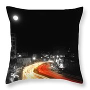 City And The Moon Throw Pillow