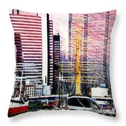 City And Water Throw Pillow