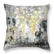 City-art Manhattan Sunflower Throw Pillow