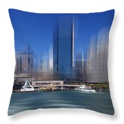 City-art Sydney Circular Quay Throw Pillow