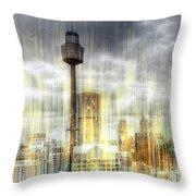 City-art Sydney Rainfall Throw Pillow