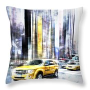 City-art Times Square II Throw Pillow