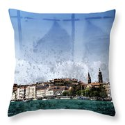 City-art Venice Panoramic Throw Pillow