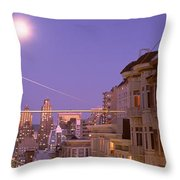 City At Night, San Francisco Throw Pillow
