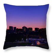 City At The Edge Of Night Throw Pillow