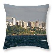 City At The Waterfront, Salvador Throw Pillow