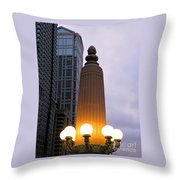 City At Twilight Throw Pillow
