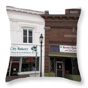 City Bakery In Clare Michigan Throw Pillow