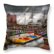 City - Baltimore Md - Modern Maryland Throw Pillow