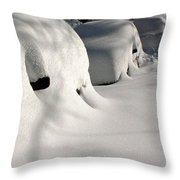 City Blizzard Throw Pillow